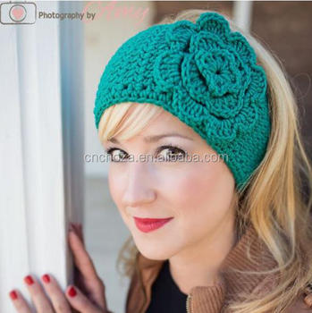 Z54425b Fashion Wool Women Winter Crochet Headbands Ladies Crochet