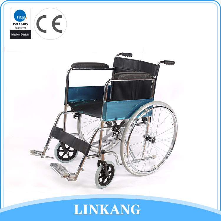 Good Sealed convenient to use strong fixed armrest standard steel wheelchair