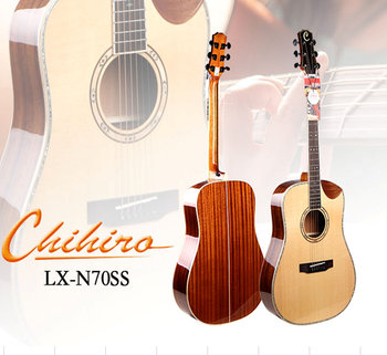 High end Import Solid Spruce acoustic guitar China factory