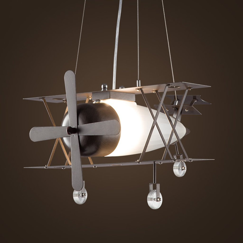 Eye protection airplane lights Chandelier American creative personality restaurant Internet cafes single-head iron retro industrial wind aircraft chandelier A+