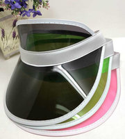 Uv wide Bill Plastic Sun Visor Cap