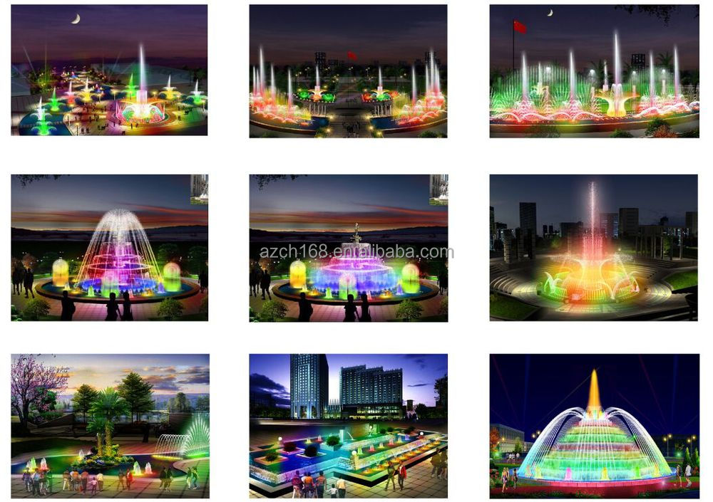 Customized outdoor music water fountain water dance light fountain