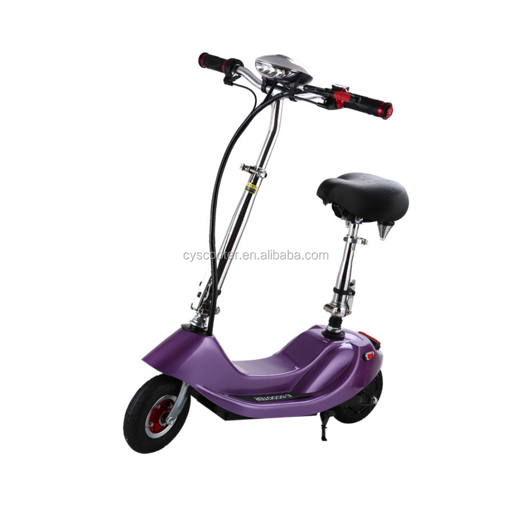 24v 250w Folding Electric Scooter / 2 Wheel Adult Mini Electric Scooter / E-Scooter Folding- Purple