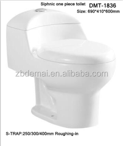 Made in China one piece toilet sanitary ware good design popular white S trap