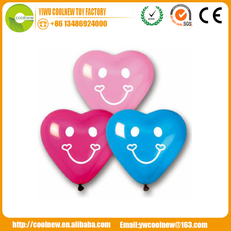 100% cheap latex heart red balloon smile face for wedding party birthday inside outside decoration