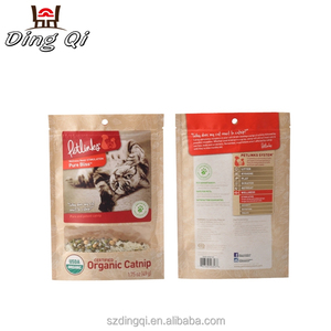 Dry food packaging 3 layers PET/PE kraft paper bag with clear window