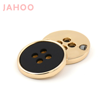 Wholesale 4 Holes Nickel-free Alloy Black Metal Buttons For Suits