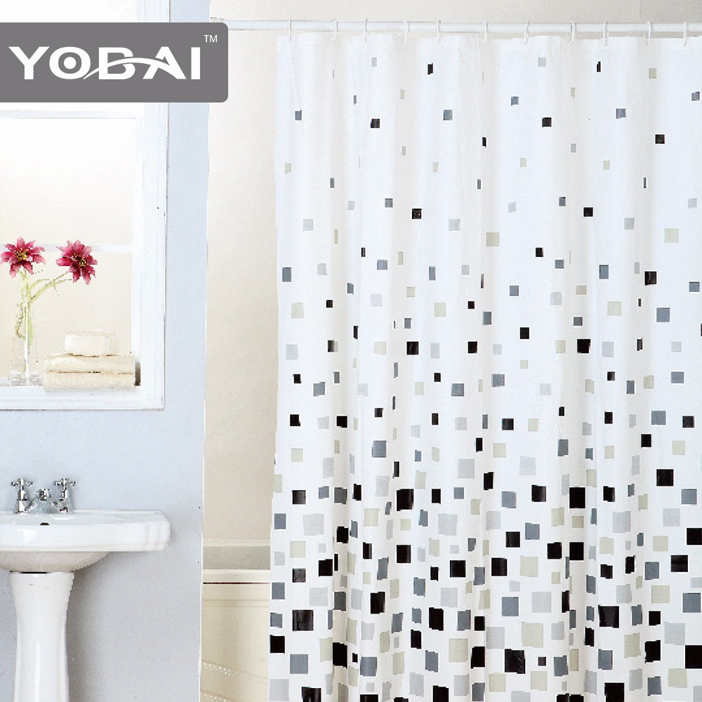 Waterproof PEVA Custom Shower Curtains