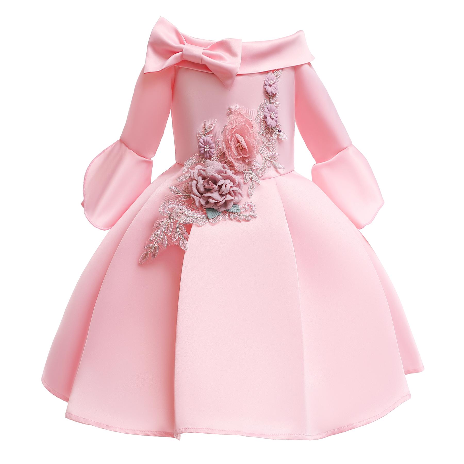 O-neck children tutu dress leakage shoulder design girl dress of 3-8 years old фото