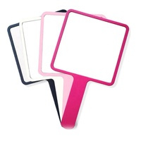 Solid Color Custom Foldable Hand Mirror With High Quality Mirror