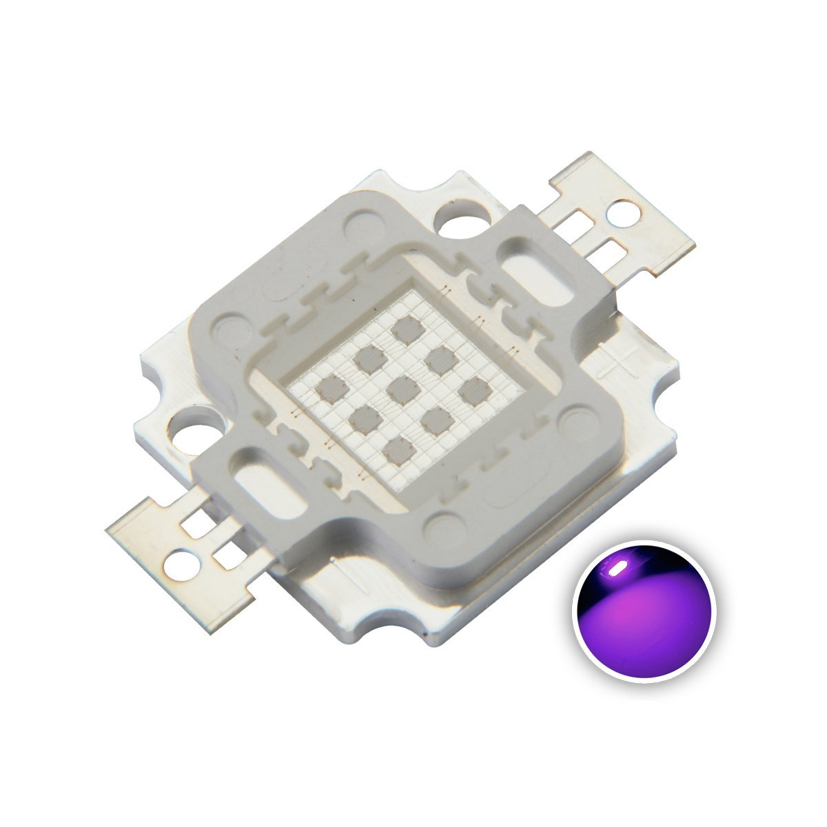 Cheap 405nm Led Find Deals On Line At Alibabacom Driver Circuitconstant Current 300ma 12v View Get Quotations Chanzon Smd High Power Chip 10w Cob Lamp Beads For Floodlight Spotlight Ultraviolet Purple