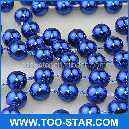 metallic colour mardi gras round beads