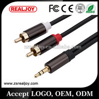 3.5mm Y Stereo splitter audio adapter rca Aux cable