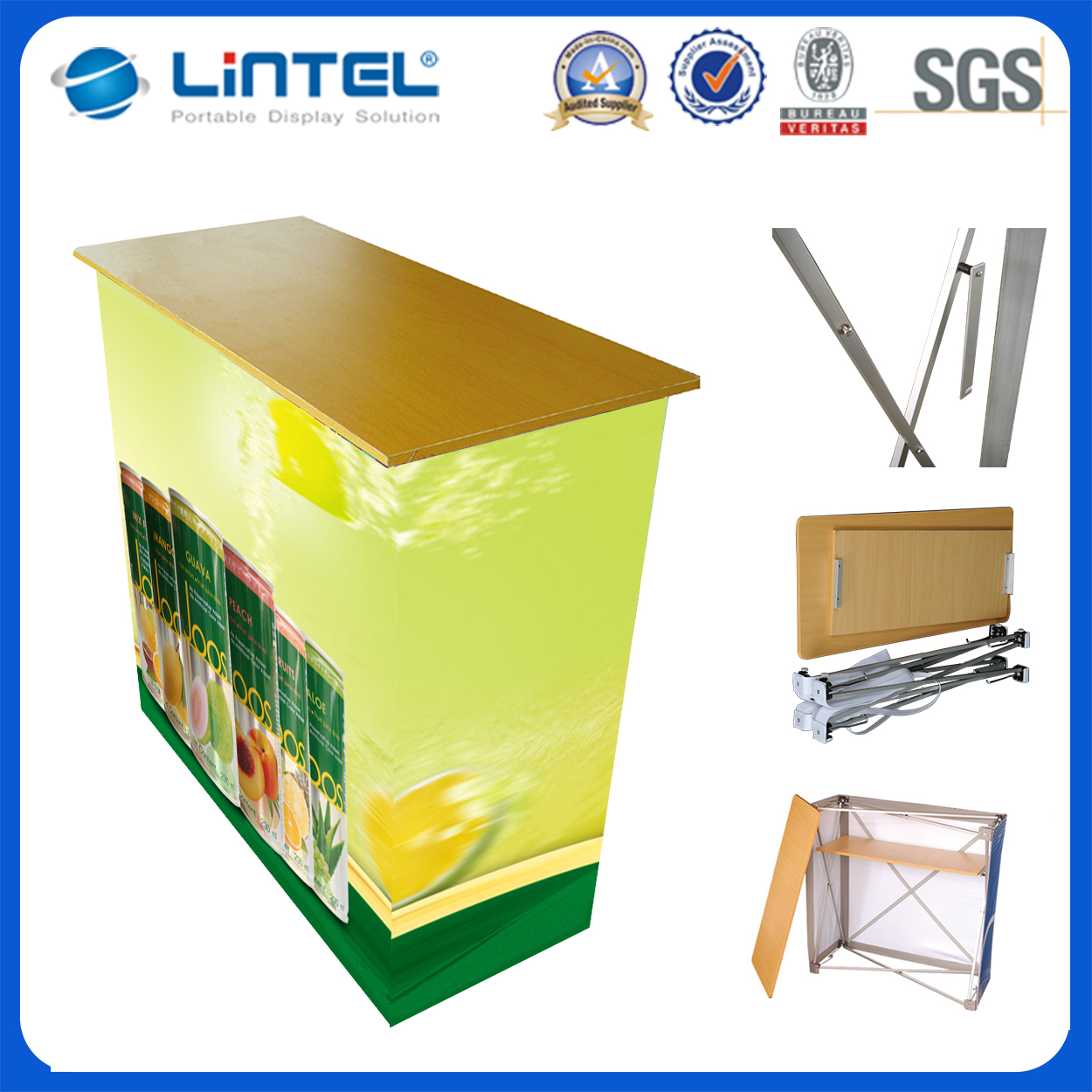 Aluminum promotion counter/promotion desk trade show booth with high reputation