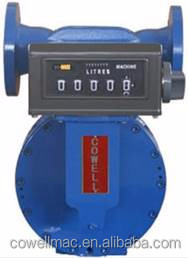 flow rate 80m3/h Positive Displacement oil flow Meter