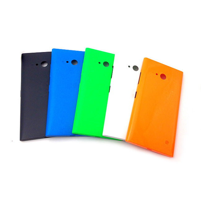 best authentic 38154 bfa3a Original new cell phone shell for Nokia Lumia 730 735 housing back case  battery cover door with side bottons and NFC