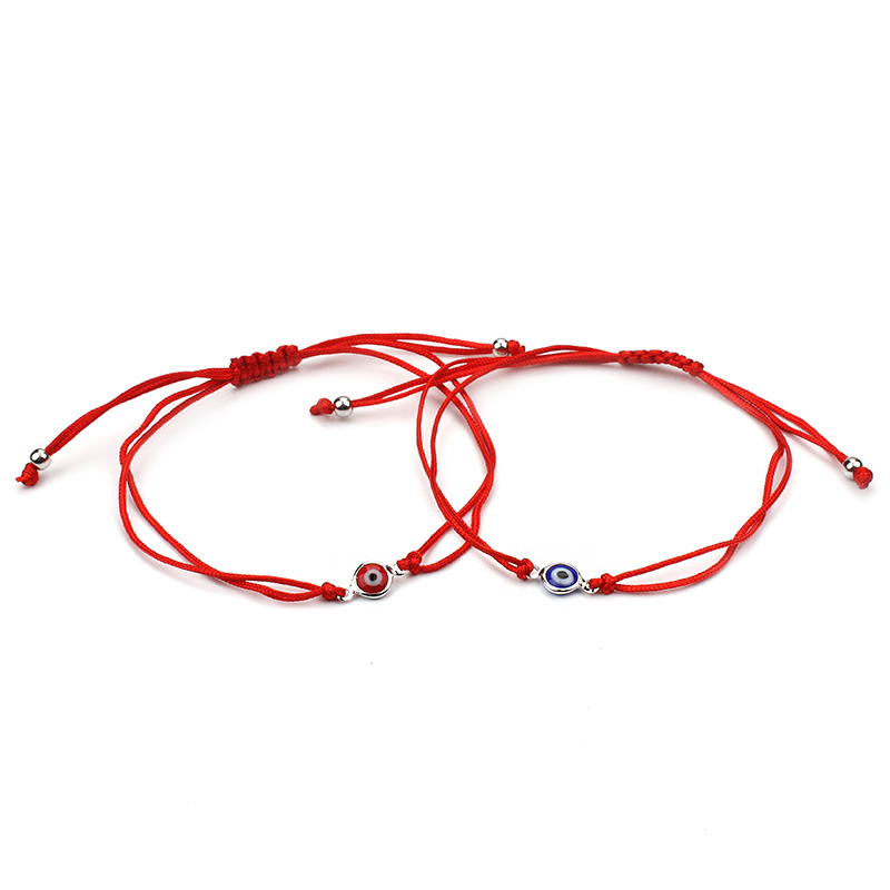 Wholesale Evil Eye Bracelet Red Rope Braided Bead Charms Bracelet, As show