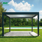 Modern design adjustable metal roof louvers outdoor decorative garden pavilion gazebos
