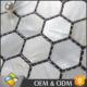 Hexagon Fresh Water Popular Mother Of Pearl White Shell Mosaic