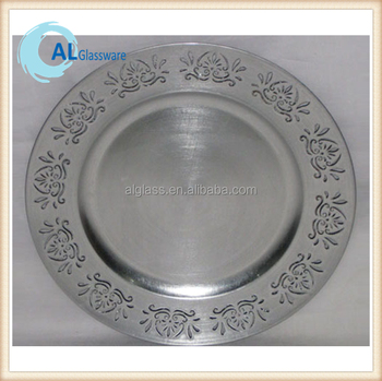 silver charger plates dollar store michaels cheap plastic beaded plate wholesale