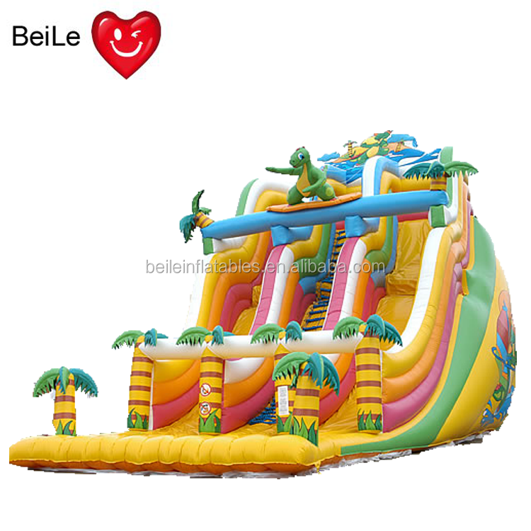 Custom funny cartoon and coco large water inflatable <strong>slide</strong> for child