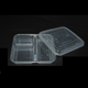 Manufacturer supplier PP material safe 3 compartment disposable food container for food package