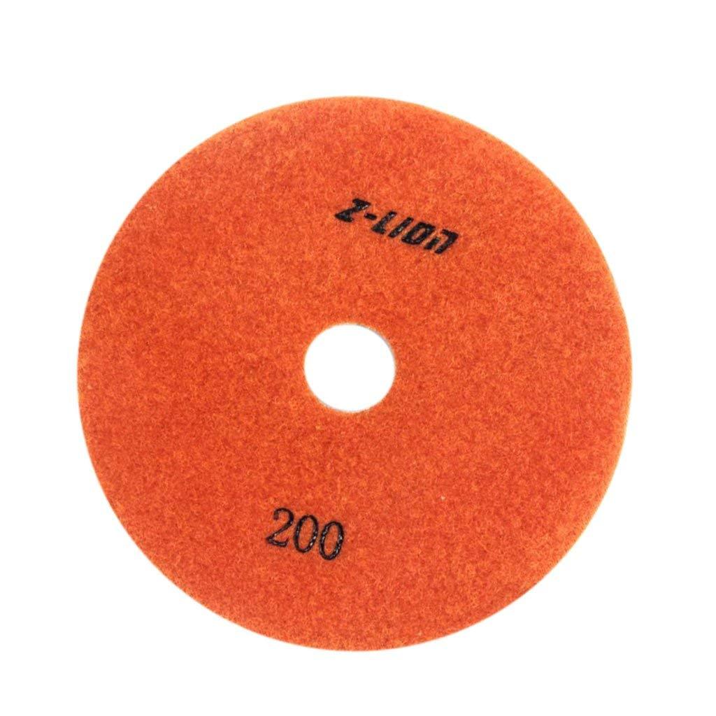 Homyl 3, 4,5 Inch Wet Dry Electroplated Diamond Polishing Sanding Pad Disc Granite - 200 Grit, 125mm