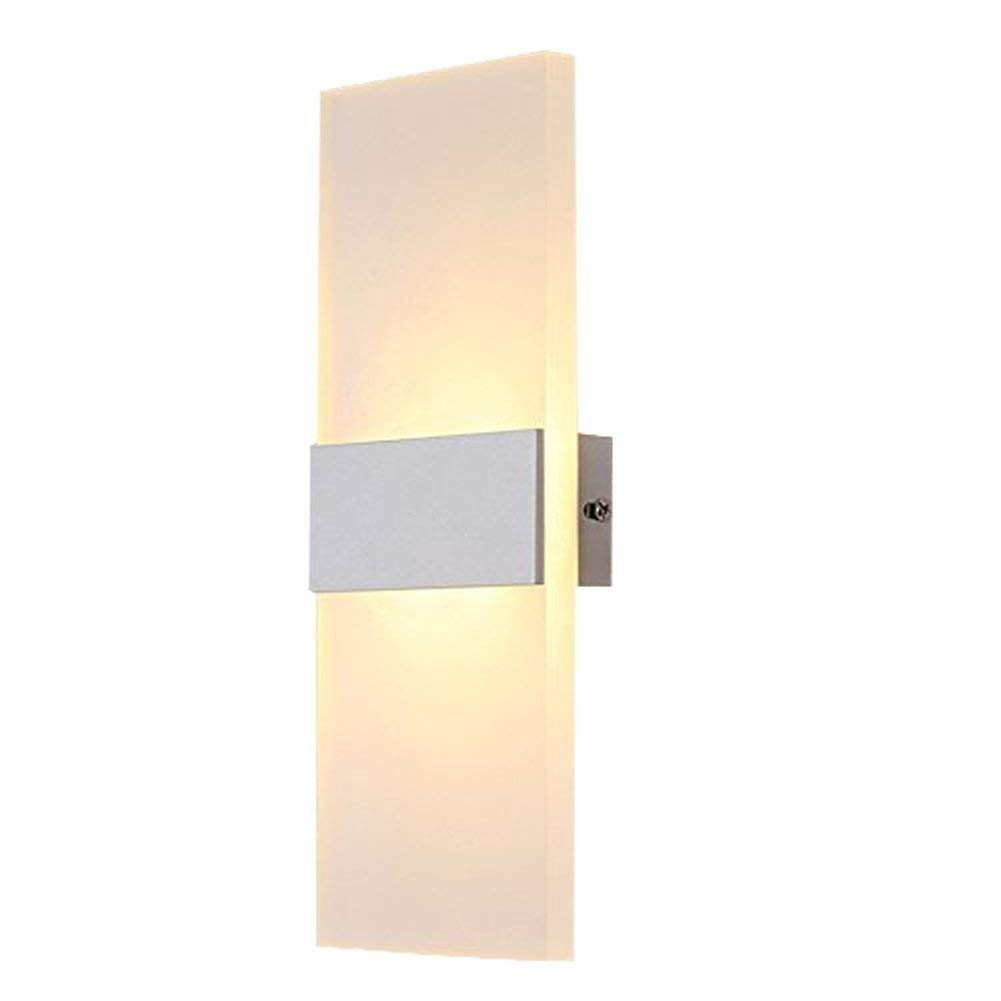 6W Warm White LED Wall Light, Modern Acrylic Wall Lamp Led Wall Sconce Lights Perfect for Living Room Lights Bedroom Lamps Corridor Wall Lighting LED Night Light