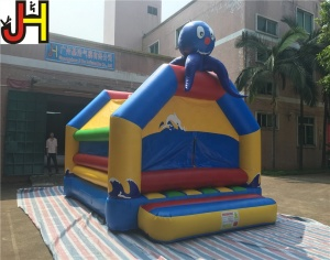 Mini Inflatable Octopus Bouncer, Cartoon Bounce House Inflatable Jumper Toys For Kids