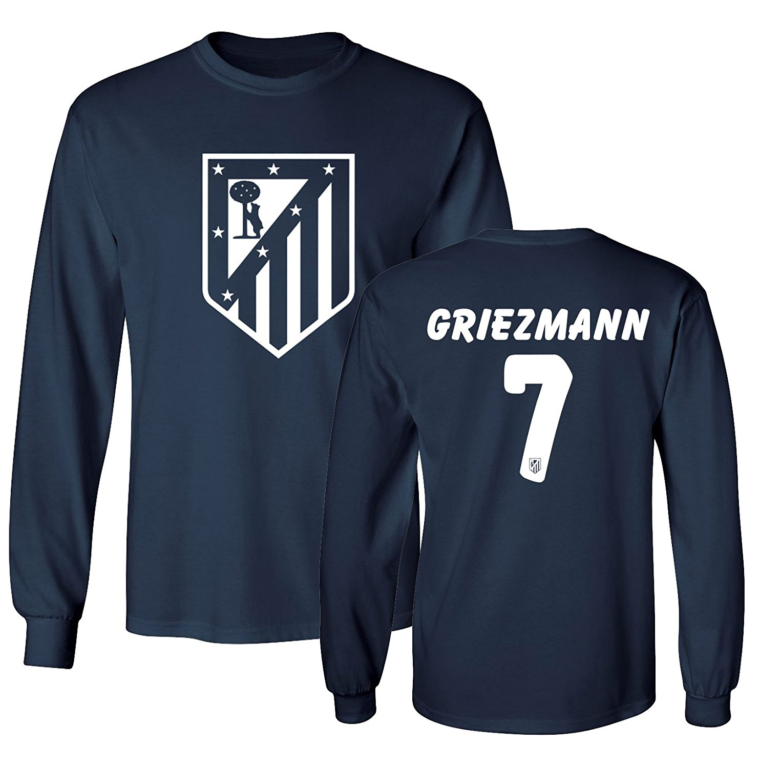 87bd1a414 Get Quotations · Tcamp Atletico Madid Shirt Antoine Griezmann  7 Jersey  Men s Long Sleeve T-shirt