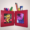 Fancy Shape Red Round Pencil Holder That Opens Family Photo Frame