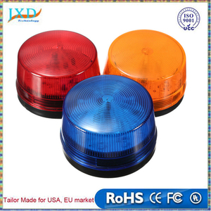 Waterproof 12V 120mA Safely Security Alarm Strobe Signal Safety Warning Blue Red Orange Flashing LED Light 11 orders