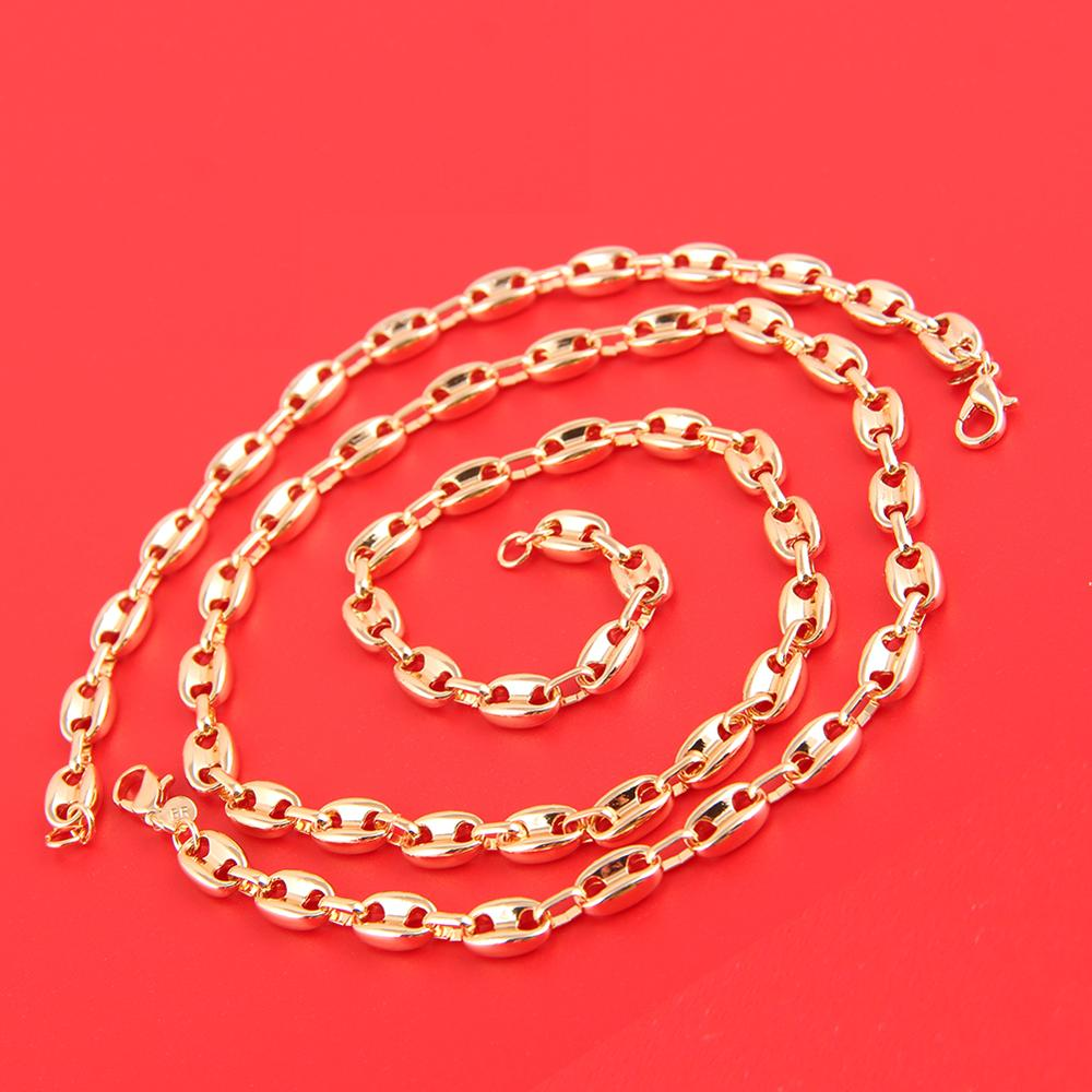 Best Selling Products In Europe Gold Jewelry Necklace And Bracelet Set