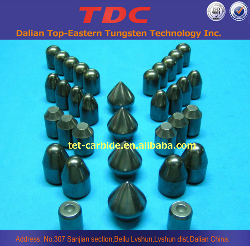 Various sizes customized secure thread carbide button bit , tungsten carbide button bits free sample