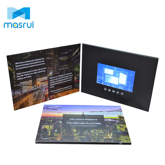 Promotional advertising lcd video gift cards digital tft screen invitation lcd video brochure card