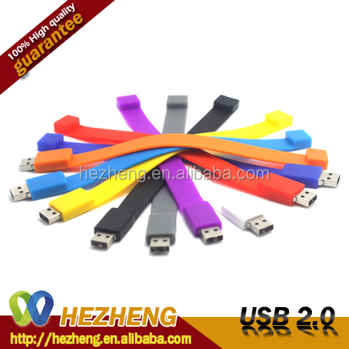 8GB USB With Logo Beautiful PVC Silicone Bracelet USB Flash Drive