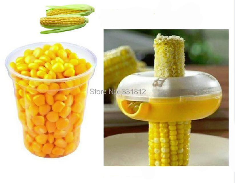 50pcs/lot New 2015 Corn Threshing Stripping Round Corn Stripper Thresher Kitchen Utensil Tool