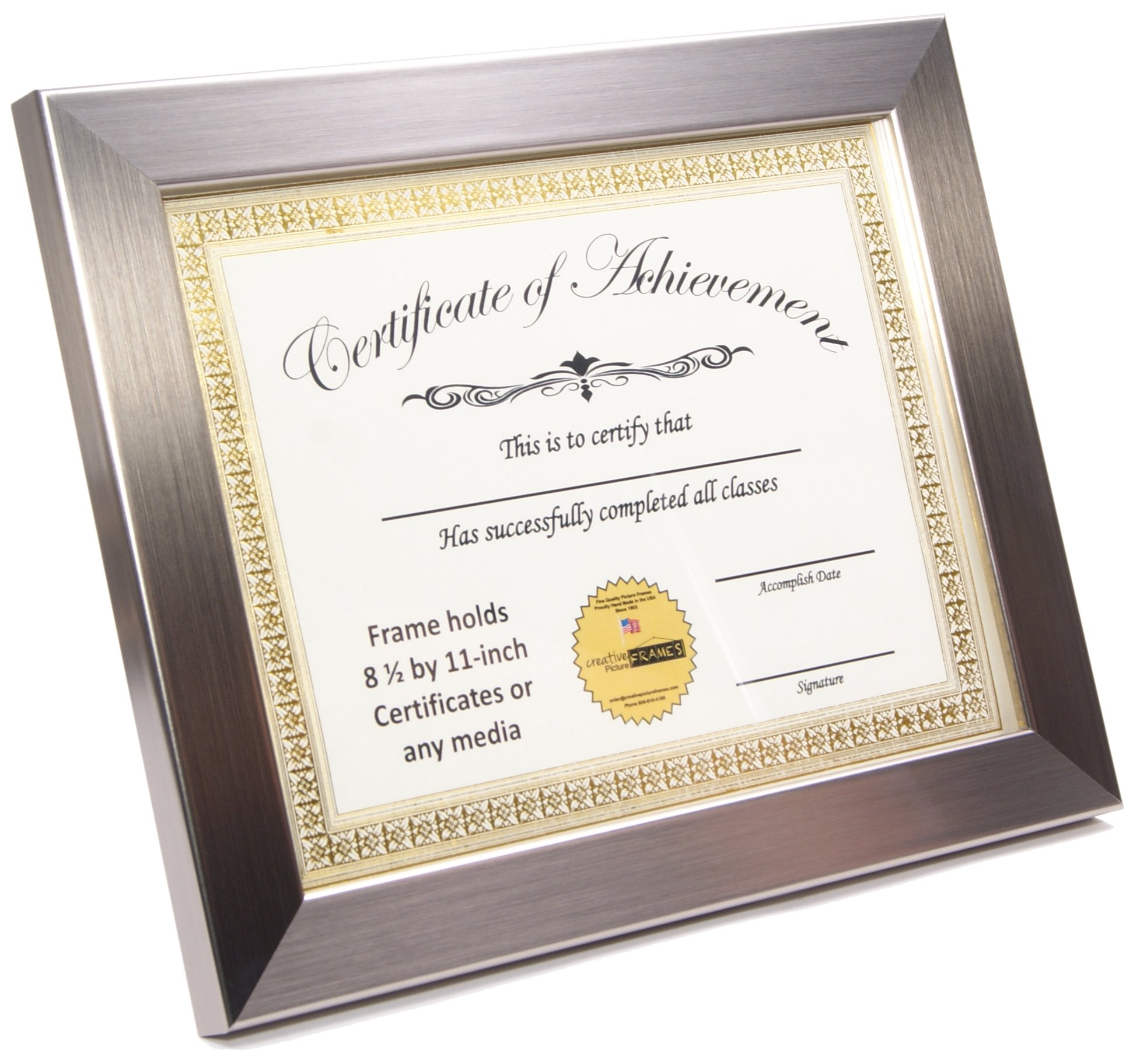 Сертификат в рамке картинки