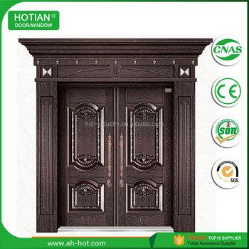 High Quality Indian House Gate Grill Steel Door Entry Double Door In