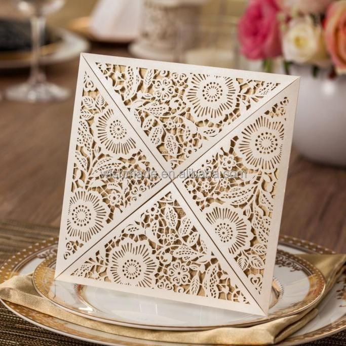 2017 nouveau mariage carte dinvitation carte de voeux de conception laser cut carte cw520_wh - Carte D Invitation Mariage En Arabe