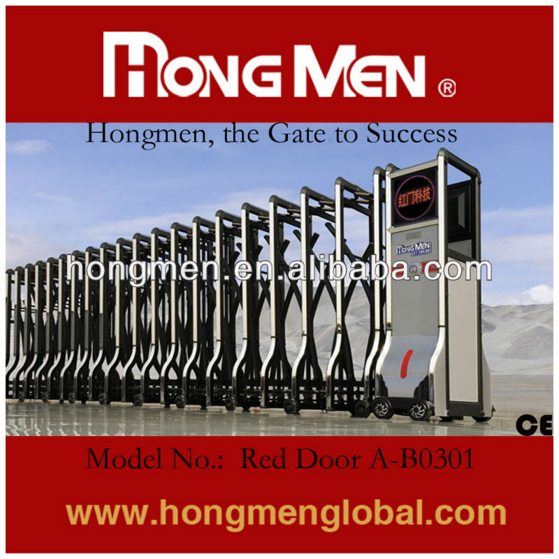 Motorized Intelligent Expandable Automatic Retractable Gate for Factory Entrance