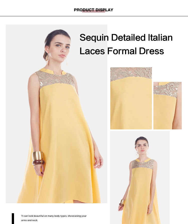 Holiday Latest Sequin Detailed Patterns Italian Maxi Laces Formal