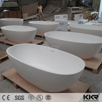 high quality acrylic stone matt white freestanding bath tub - buy