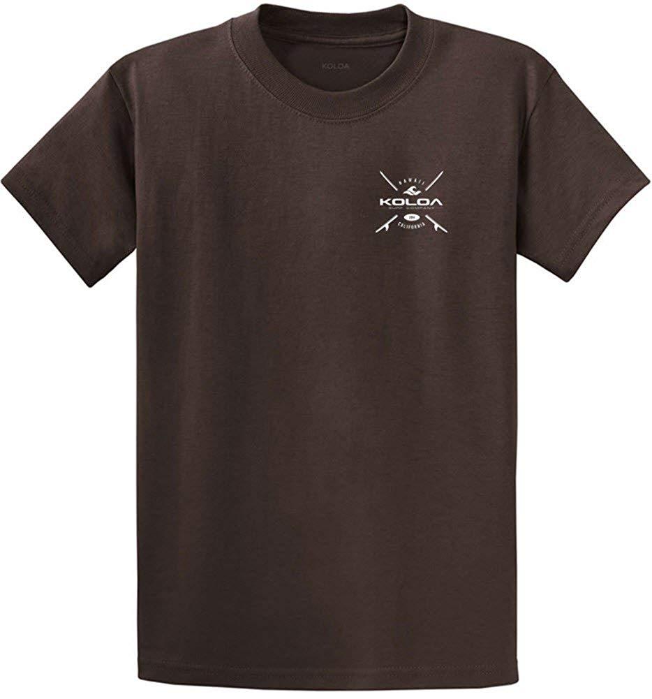 c1ebbd4646a50 Get Quotations · Joe s USA Koloa Surf Cross Boards Logo Heavy Cotton  T-Shirts. Regular