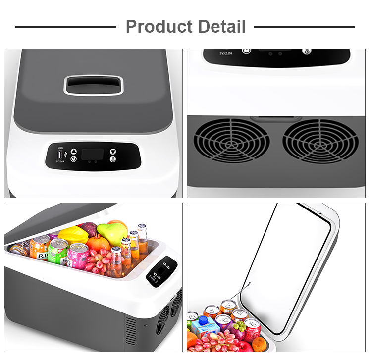 24L Digital Display Portable Refrigerator Car Fridge