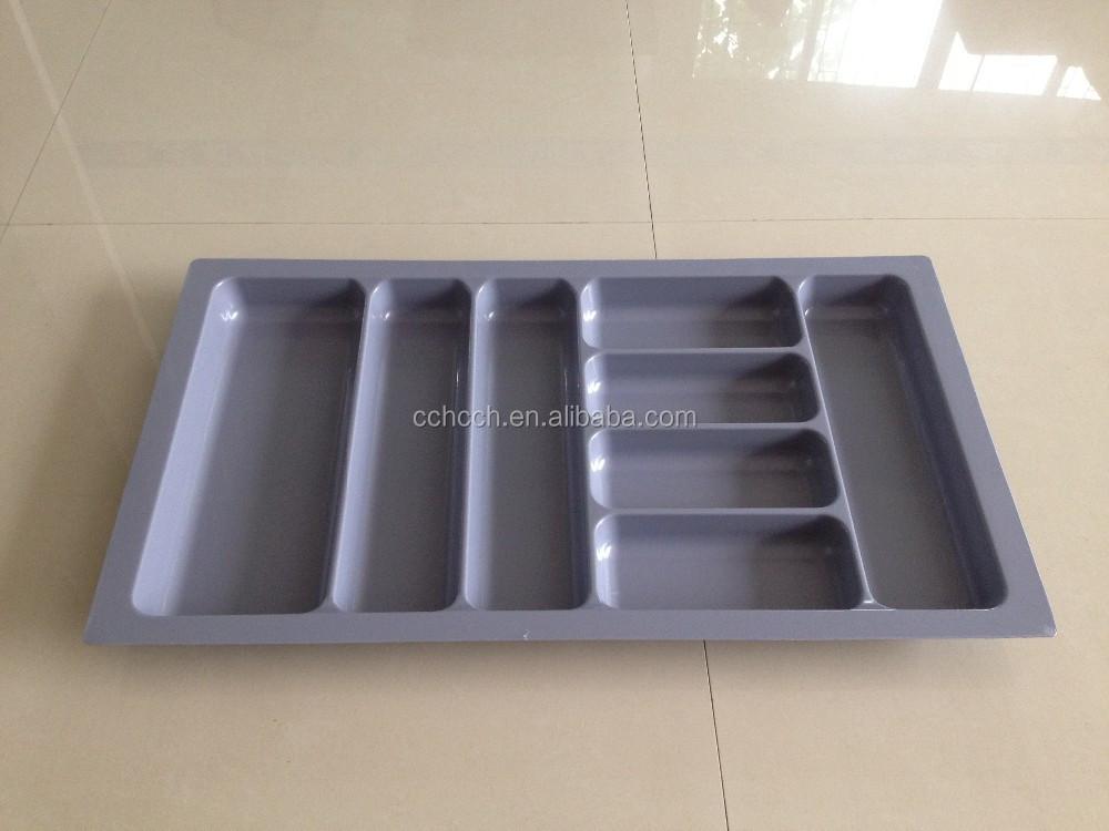 De rangement en plastique plateaux avec s parateurs for Rangement couverts tiroir cuisine