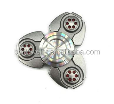 Toy Hand Fidget Spinner - Gray and Golden 2-side Metal Spinner