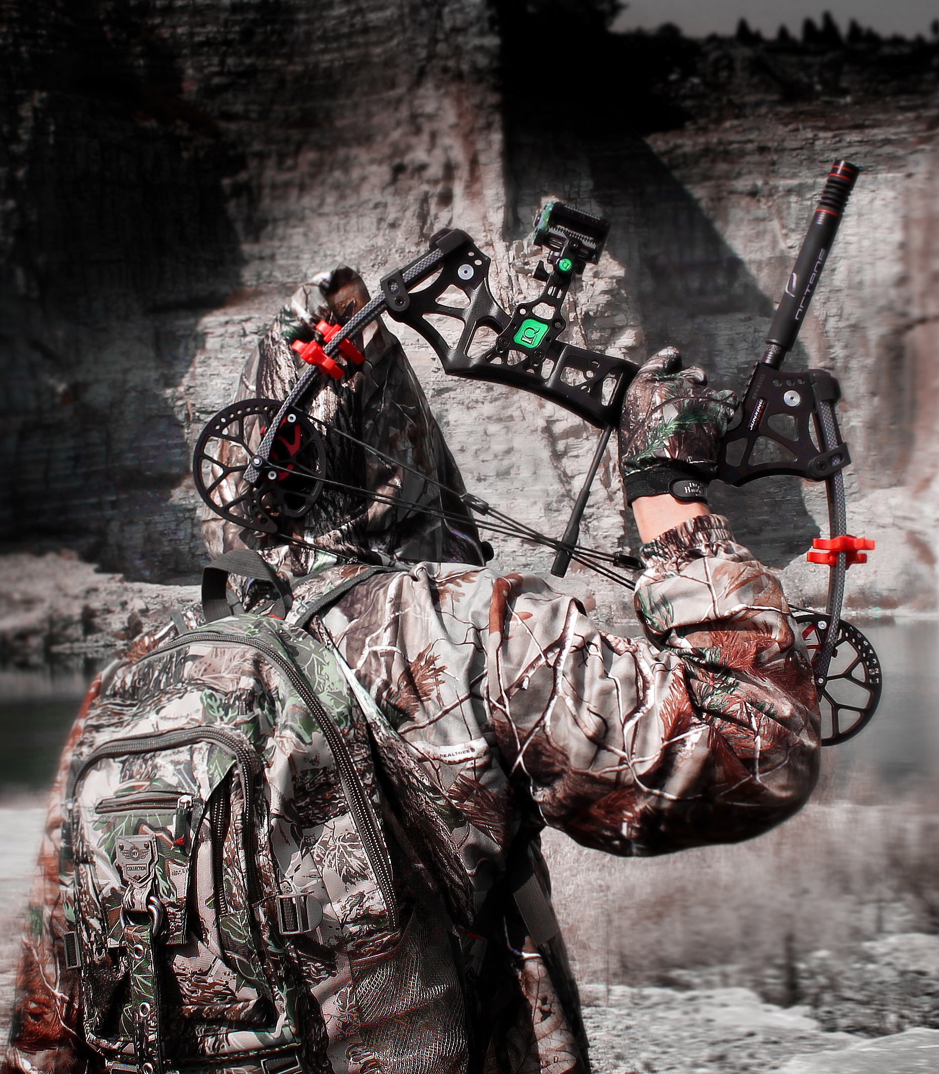 6//12pcs Archery Pure Carbon Arrows 30/'/' Wood Grain 350SP 4/'/' Turkey Feather Hunt