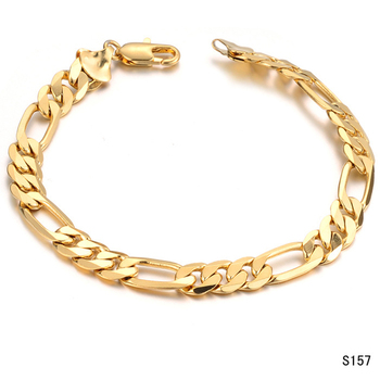 Wholesale new men's fashion thick gold charm bracelet jewelry