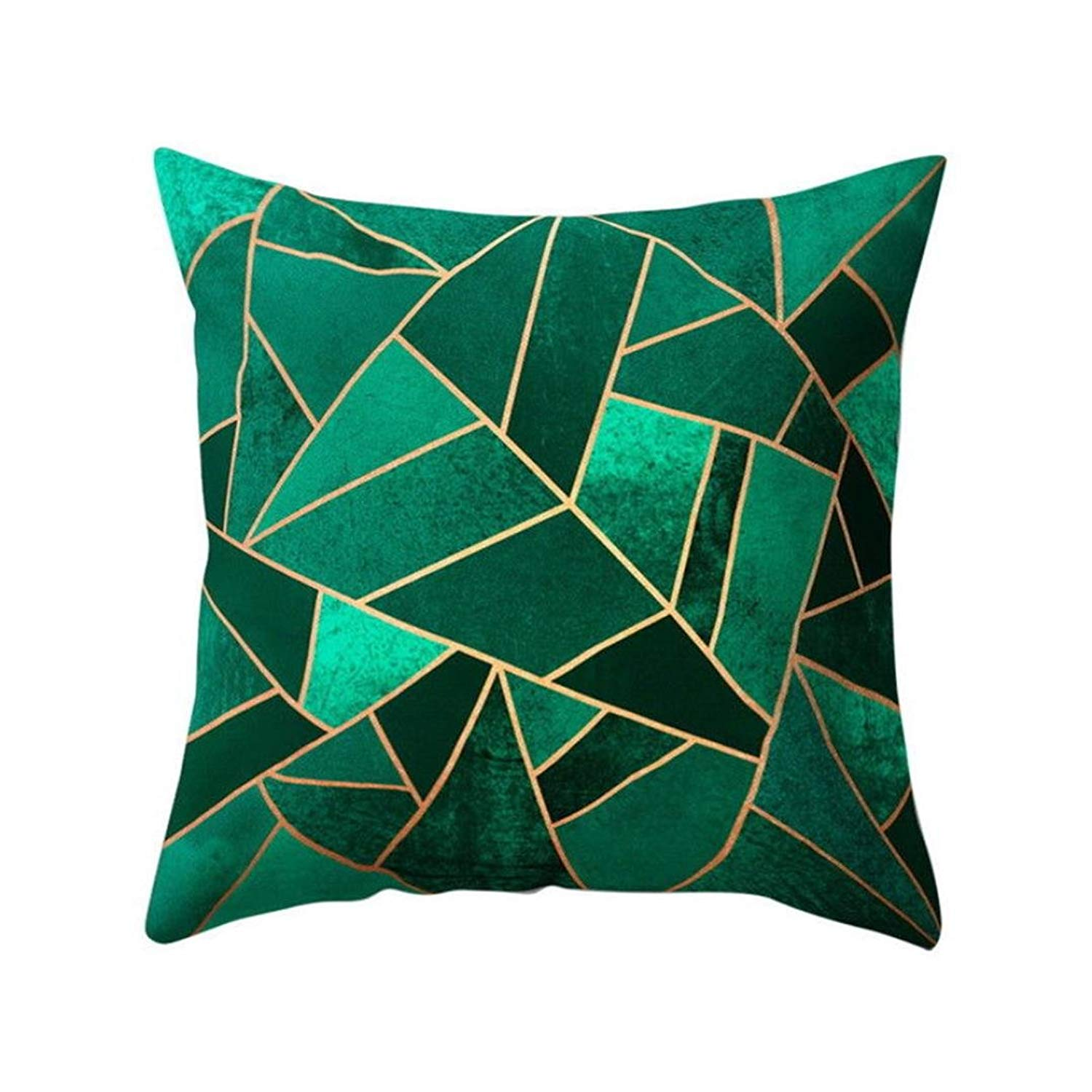 MaxFox Geometric Design Throw Pillow Cover 18 x 18 Inch 45 x 45 Cm Pillow Cover